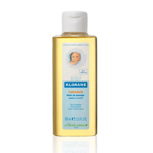 Масло детское массажное с календулой 100 мл (Klorane, Klorane Bebe) масла saloos массажное масло роза 50 мл