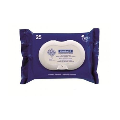Klorane Салфетки успокаивающие для снятия макияжа с экстрактом василька 25 шт. (Eye Care Range)