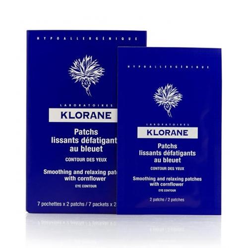 Klorane Успокаивающая маска -компресс для контура глаз 7х2 мл (Eye Care Range)