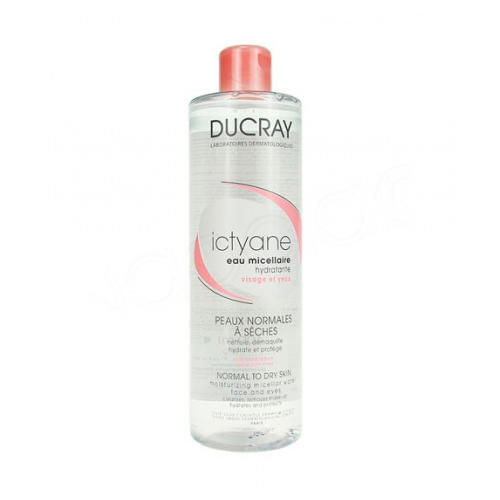 Ducray Иктиан Увлажняющая мицеллярная вода для лица и глаз 400 мл (Сухая кожа)