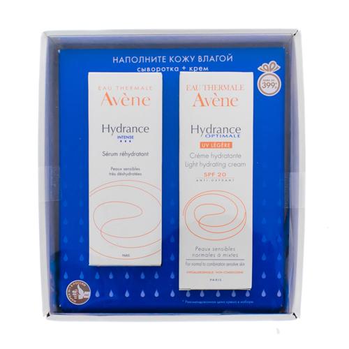 Avene Набор Гидранс Интенс Увлажняющая сыворотка 30 мл + Увлажняющий защитный крем Гидранс Оптималь UV 20 Лежер 40 мл (Avene, Hydrance)