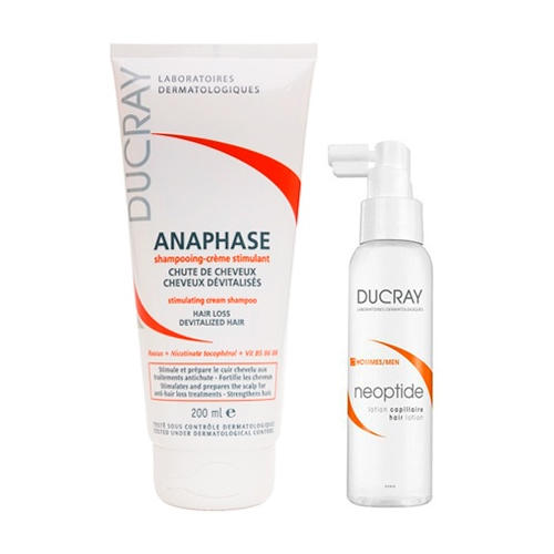 Набор Неоптид: Лосьон от выпадения волос у мужчин 100 мл + Стимулирующий шампунь Анафаз 200 мл (Выпадение волос) (Ducray)