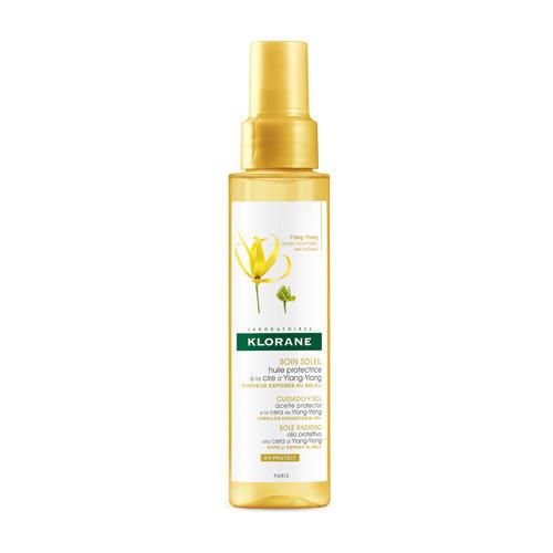 Масло солнцезащитное для волос с воском ИлангИланг 100 мл (Klorane, YlangYlang) несмываемое масло для волос