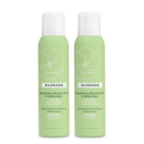 Набор Дезодорант спрей с белым алтеем 125 мл х 2 шт. (Klorane, Deodorant)