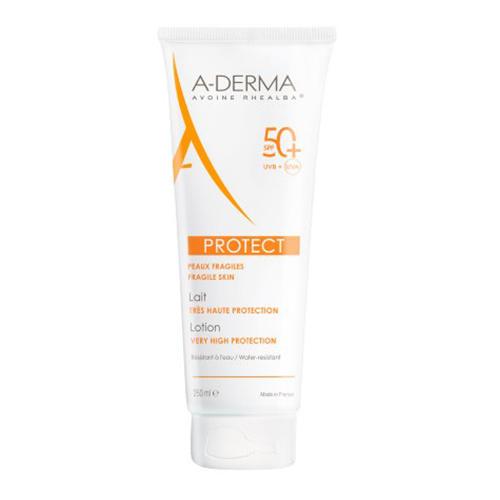 A-Derma Солнцезащитный лосьон с высокой степенью защиты SPF 50+, 250 мл (A-Derma, Protect) a derma protect солнцезащитный лосьон для детей с высокой степенью защиты spf 50 250 мл