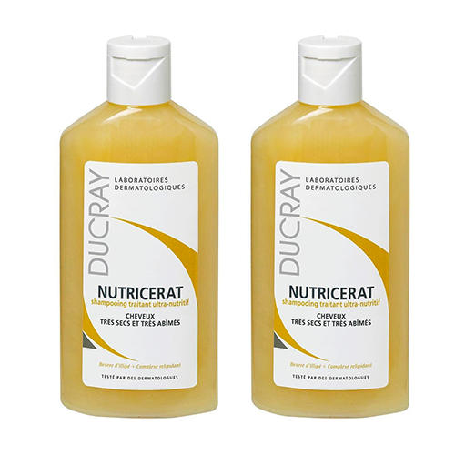 цена на Нутрицерат Сверхпитательный шампунь 200 мл х 2 шт. (Ducray, Сухие волосы)