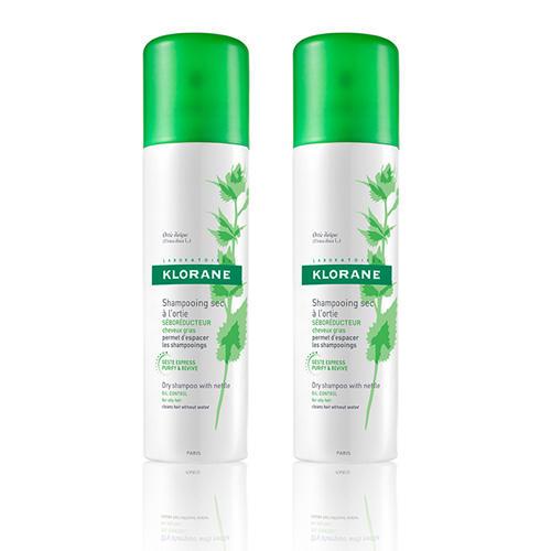 Klorane Набор Сухой шампунь с экстрактом крапивы 2 шт. х 150 мл (Oily Prone Hair)