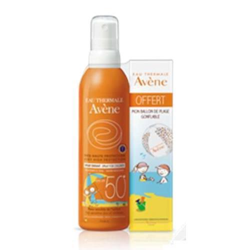 заказать Avene Авен Набор Детский солнцезащитный спрей SPF 50+, 200 мл + Надувной мяч (Suncare)
