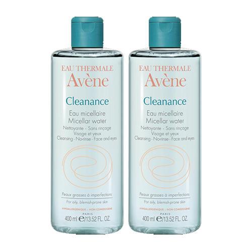 Набор Клинанс Мицеллярная вода Cleanance 400 мл х 2 шт. (Avene, Cleanance) набор крем клинанс к 40 мл гель клинанс 50 мл avene cleanance