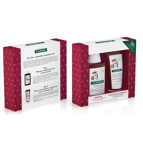 Klorane Набор Для укрепления и роста волос Шампунь с экстрактом хинина 200 мл + Бальзам 200 мл (Thinning Hair)
