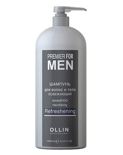 Ollin Professional Освежающий шампунь для волос и тела 1000 мл (Ollin Professional, Уход за волосами)