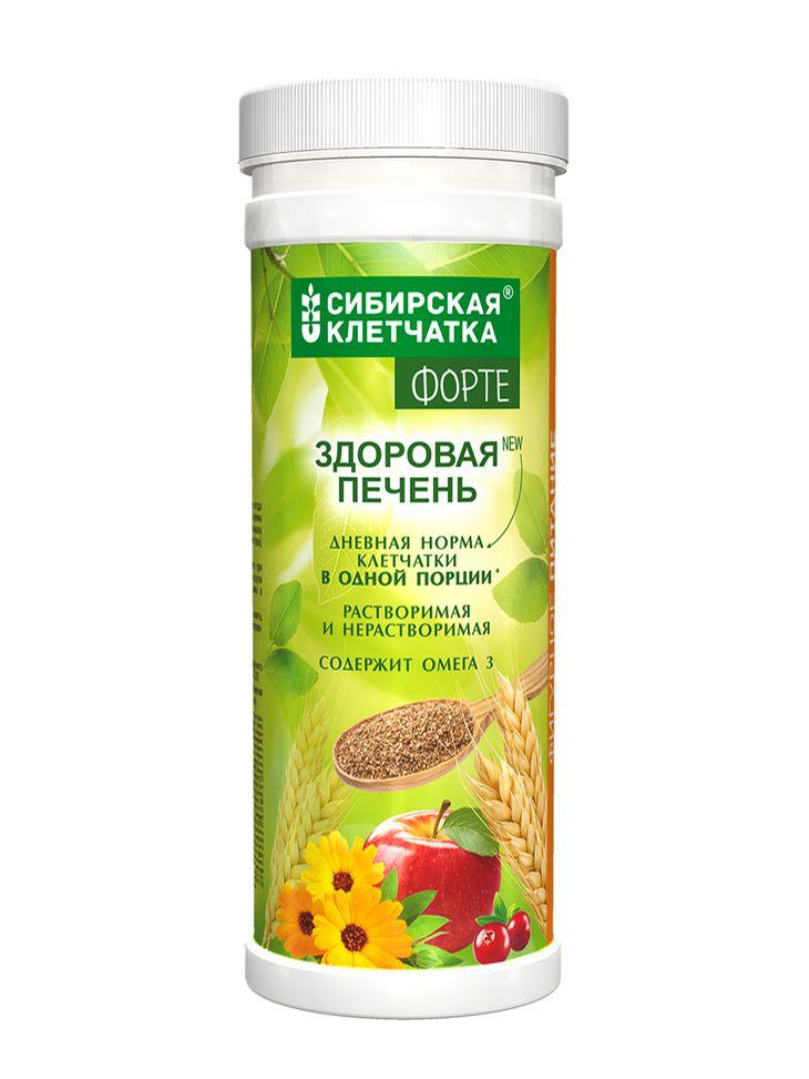 Сибирская клетчатка Здоровая печень ФОРТЕ, 200 гр (Сибирская клетчатка, Клетчатка Форте)