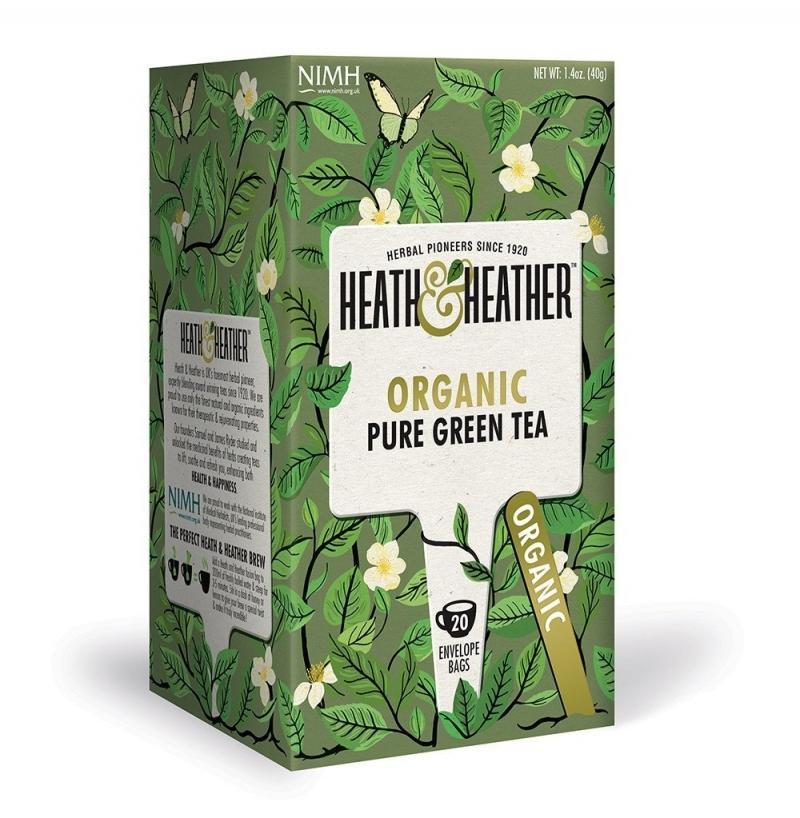 Чай Зеленый Органик (20 пак. в инд.упак.) (HeathHeather, Green Tea) растение камелия японика д12