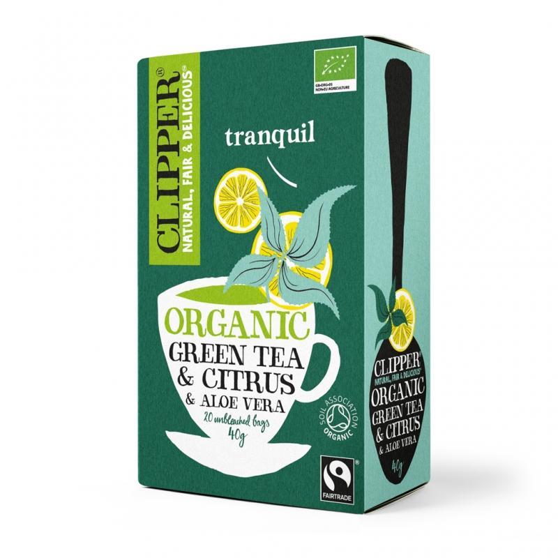 Зеленый чай с Алоэ Вера Органик. (Clipper, Green Tea) а п шульга вера и здоровье