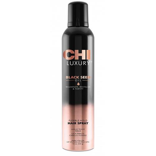 Chi Лак для волос Luxury с маслом семян черного тмина подвижной фиксации, 340 г (Chi, Luxury) chi luxury black seed oil curl defining cream gel