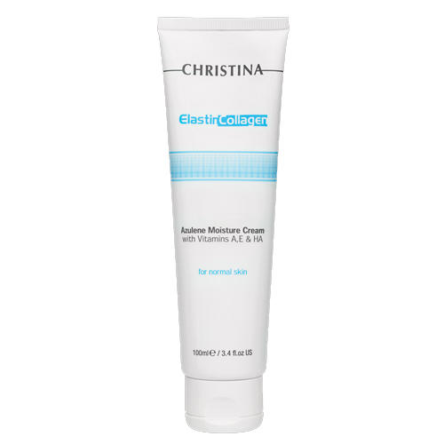 Christina Elastin Collagen Azulene Moisture Cream Увлажняющий азуленовый крем с коллагеном 100 мл (Creams)