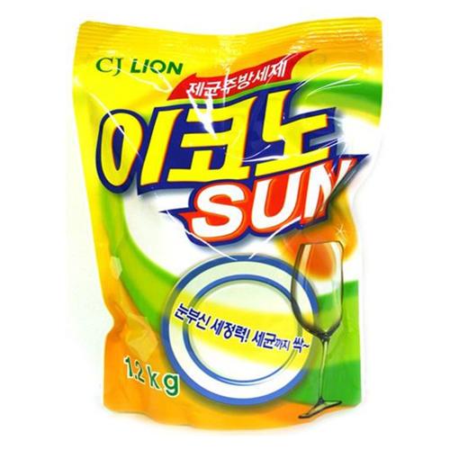 Kitchen Econo Sun Средства для мытья посуды, овощей и фруктов 1,2кг (Cj Lion, Для посуды, овощей и фруктов)