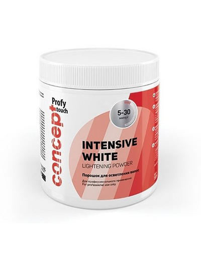 Порошок для осветления волос Intensive White Lightening Powder, 500г (Concept, Окрашивание) порошок для осветления волос цена
