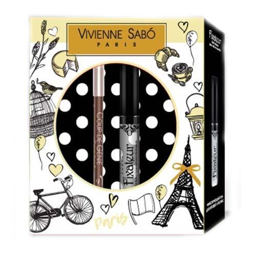 Подарочный набор (Карандаш для бровей тон 001 гель для бровей Fixateur) (Vivienne sabo, Наборы)