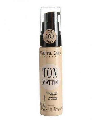 заказать Vivienne sabo Ton Mattin Матирующий тональный крем, тон 103 (Лицо)
