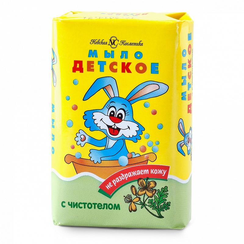 Купить НЕВСКАЯ КОСМЕТИКА Детское туалетное мыло Чистотел 90 г (НЕВСКАЯ КОСМЕТИКА, Мыло)