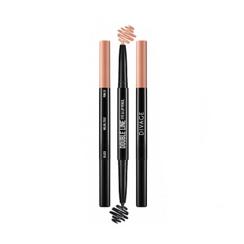 Карандаш Для Глаз И Губ Автоматический Double Line Eye Lip Pencil (Divage, Карандаш для глаз)
