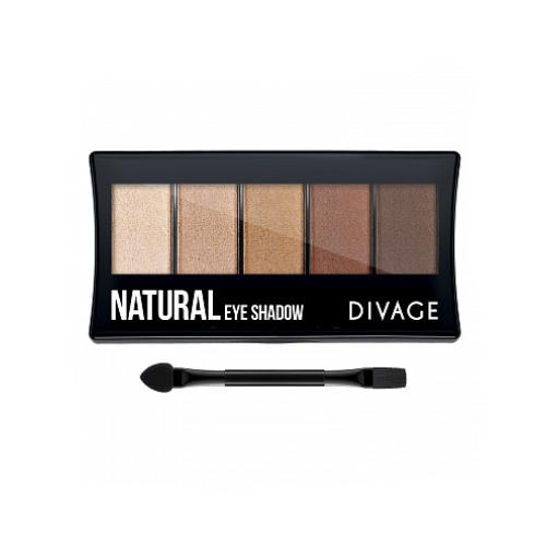 Палетка Теней Для Век Palettes Eye Shadow Natural (Divage, Тени) для глаз divage palettes eye shadow basics