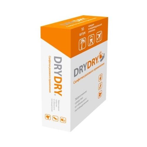 Салфетки от обильного потоотделения 10 штук (Dry Dry)