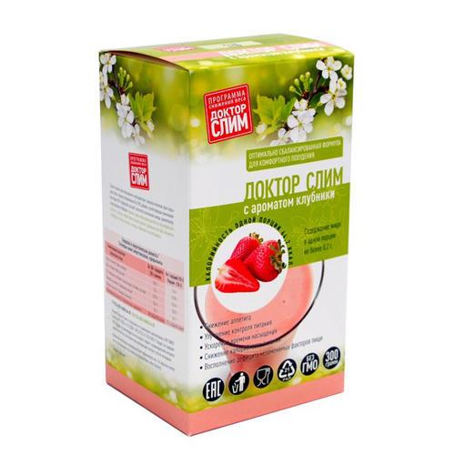 Коктейль для похудения с ароматом Клубники 300 г (16 порций) (Коктейли) от Pharmacosmetica