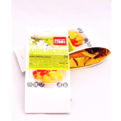 Доктор Слим Каша овсянная с абрикосом и ананасом в пакете 52г (1 порция) (Каши)