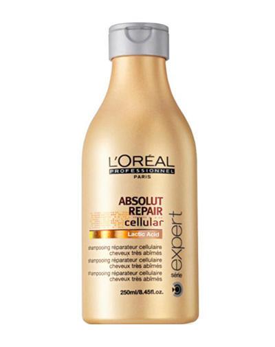 Абсолют Репэр Селлюлар Шампунь Восстанавливающий шампунь для ломких волос 250мл (Loreal Professionnel, Absolut Repair Cellular)