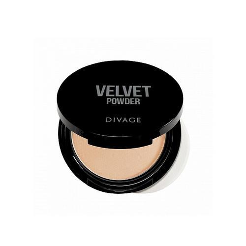 Пудра компактная двухцветная Velvet 9 г (Divage, Пудра) divage velvet пудра компактная 5206 кремовый 9 гр