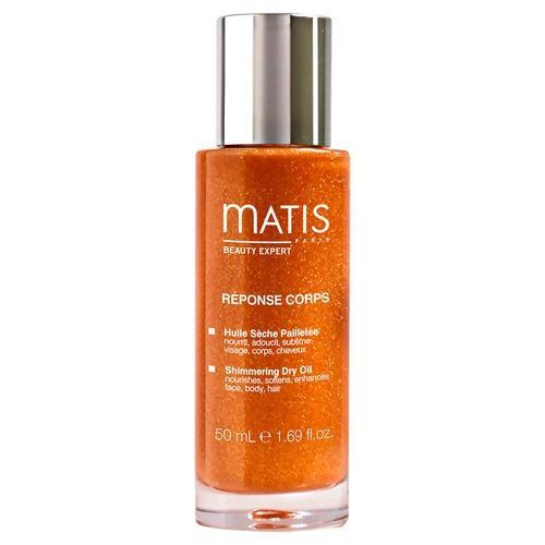 Масло сухое с эффектом мерцания для лица, тела и волос 50 мл (Matis, Линия для тела) сухое масло для волос купить