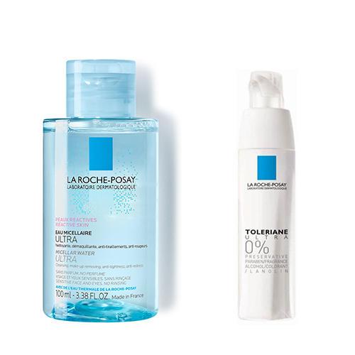 La Roche-Posay Набор для склонной к аллергии кожи (мицеллярная вода 100 мл, крем 40 мл) (La Roche-Posay, Toleriane) la roche posay мицеллярная вода для чувствительной и склонной к аллергии кожи лица и глаз ultra reactive 100 мл