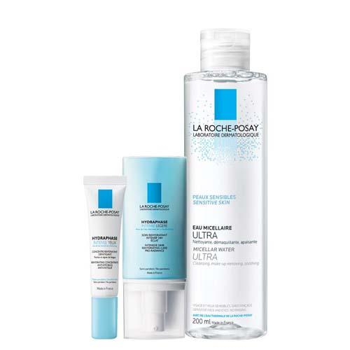 La Roche-Posay Набор Hydraphase Legere 50 мл + Hydraphase Eyes 15 мл + Micellar water 200 мл (La Roche-Posay, Hydraphase) la roche posay средство hydraphase intense riche интенс риш гидрафаз 50 мл
