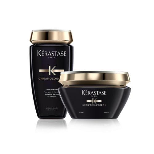 Kerastase Набор для питания и ревитализации волос: Хроноложист Шампунь-ванна 250 мл + Хроноложист Ревитализирующая маска 200 мл (Kerastase, Chronologiste)