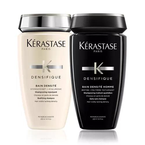 Купить Kerastase Набор Для тебя и для него : Денсифик Шампунь-Ванна для уплотнения волос 250 мл + Шампунь-ванна для мужчин 250 мл (Kerastase, Densifique), Франция
