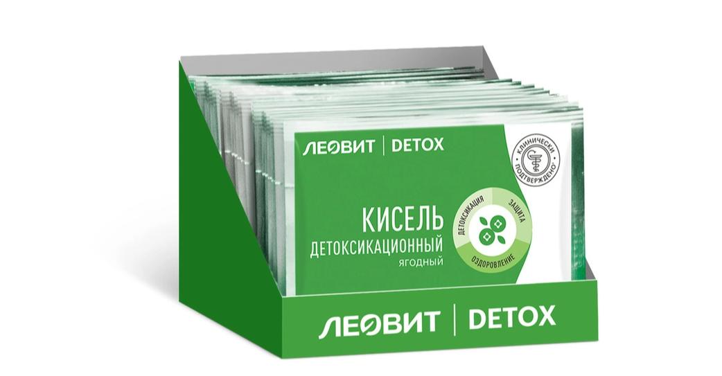 Купить Леовит Кисель детоксикационный ягодный (с клубникой), пакет 20 г (Леовит, Detox), Россия