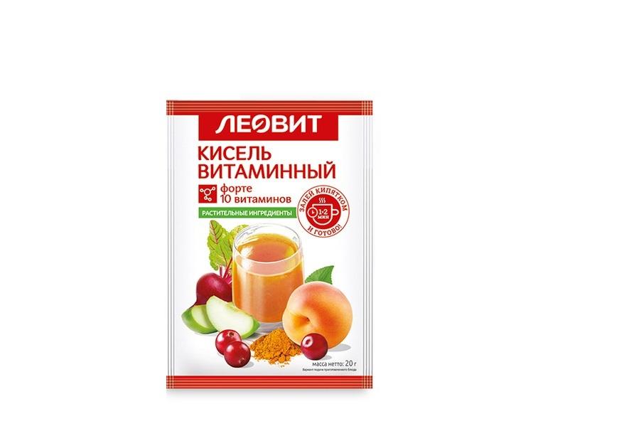 Леовит Кисель витаминный, пакет 20 г (Леовит, Detox) недорого
