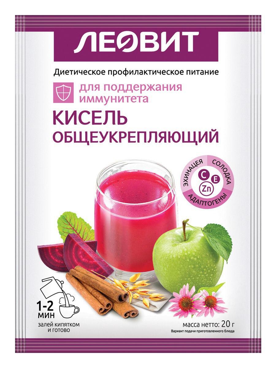 Леовит Кисель общеукрепляющий, пакет 20 г (Леовит, Detox)