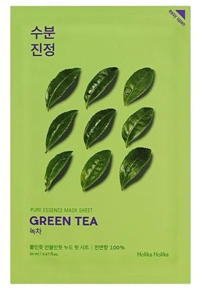 Купить Holika Holika Противовоспалительная тканевая маска Зеленый чай , 23 мл (Holika Holika, Pure Essence), Южная Корея