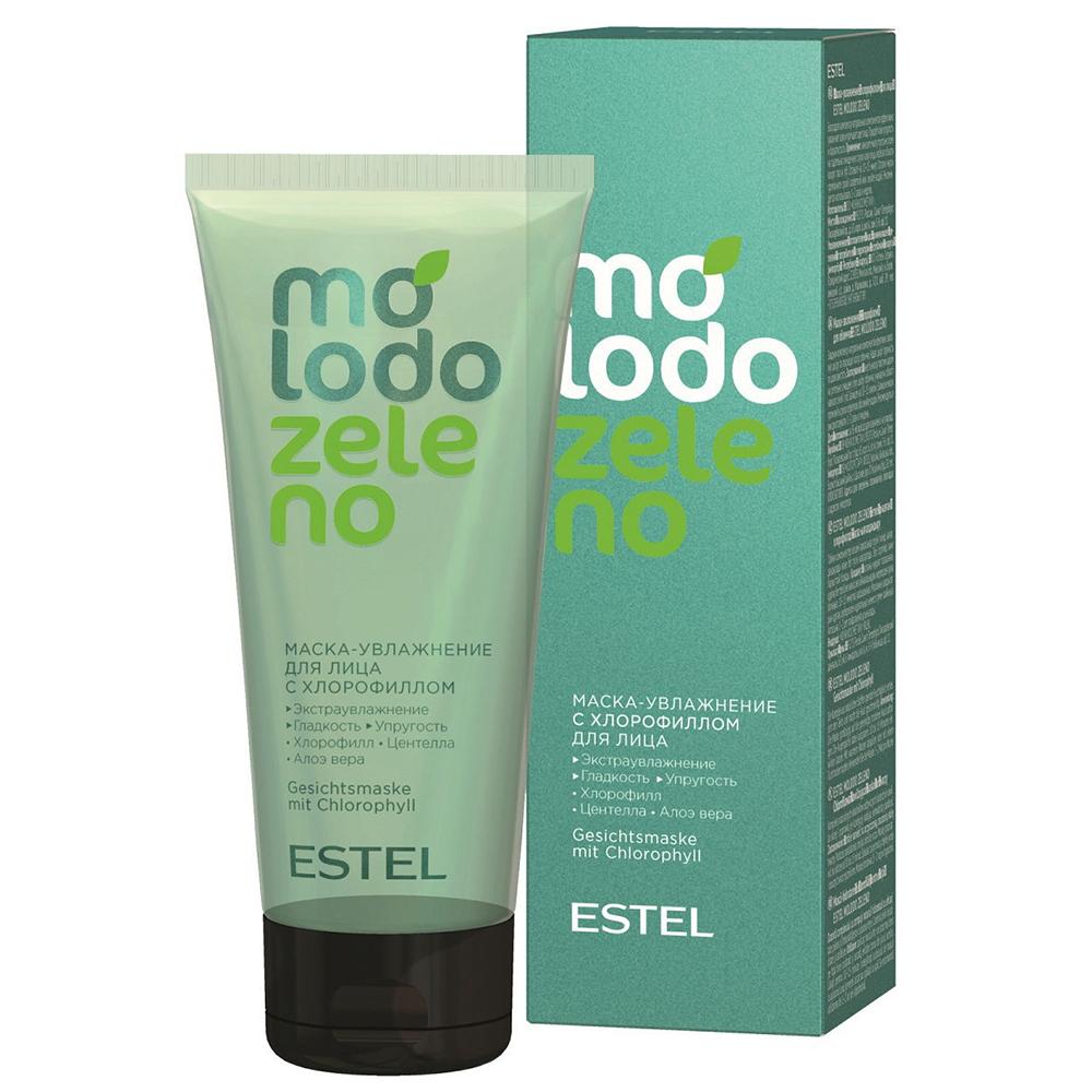 Купить Estel Маска-увлажнение с хлорофиллом для лица, 100 мл (Estel, Molodo Zeleno), Россия