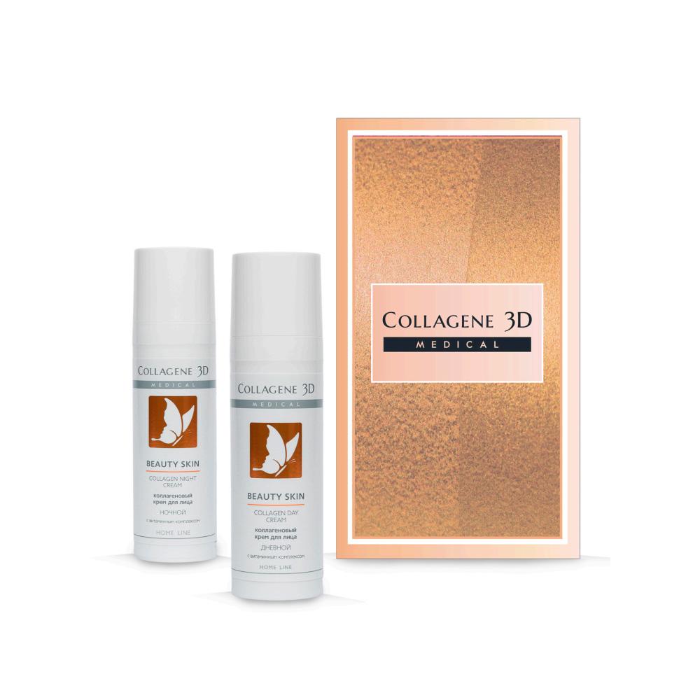 Купить Collagene 3D Подарочный набор Сияние красоты : Крем для лица с витаминным комплексом Дневной 30 мл + Крем для лица с витаминным комплеком Ночной 30 мл (Collagene 3D, Beauty Skin), Россия