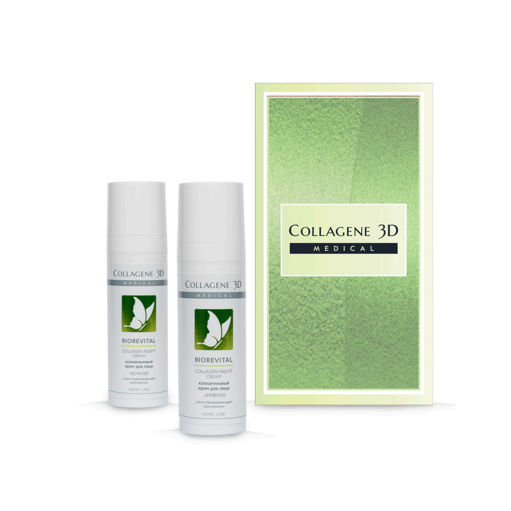 Купить Collagene 3D Подарочный набор Ритуал красоты : Крем для лица Дневной 30 мл + Крем для лица Ночной 30 мл (Collagene 3D, BioRevital), Россия