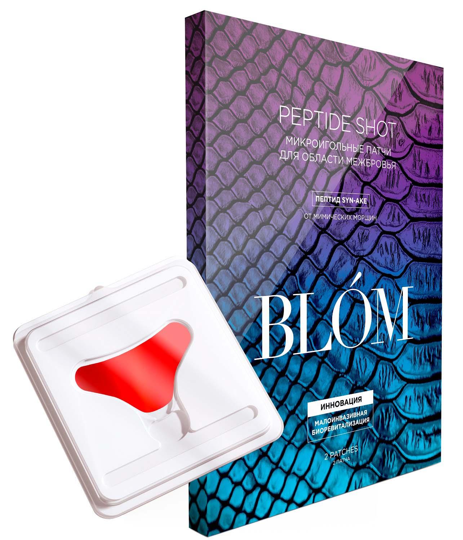 Купить Blom Патчи микроигольные для межбровной области Peptide Shot, 2 патча (Blom, Peptide Shot)