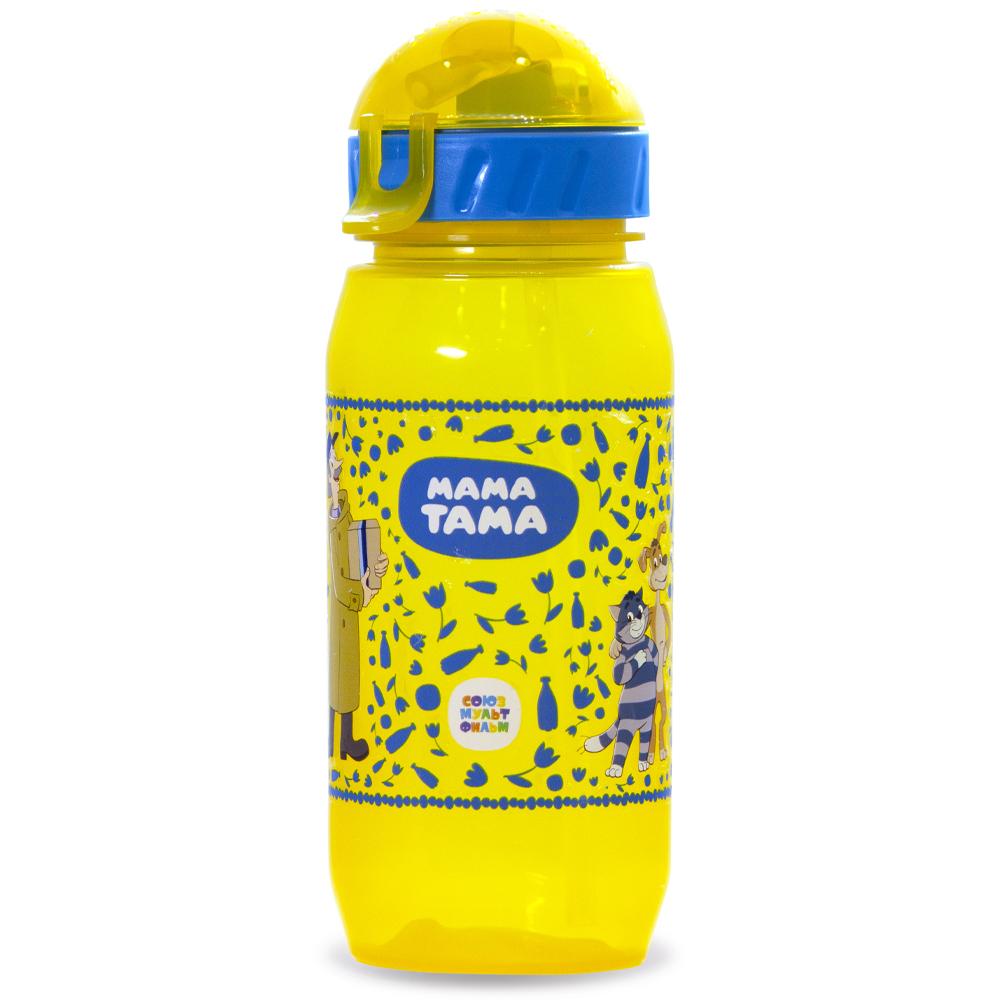 поильники МАМА ТАМА Поильник с силиконовой трубочкой 12 месяцев + 400 мл цвет желтый (МАМА ТАМА, Поильники)