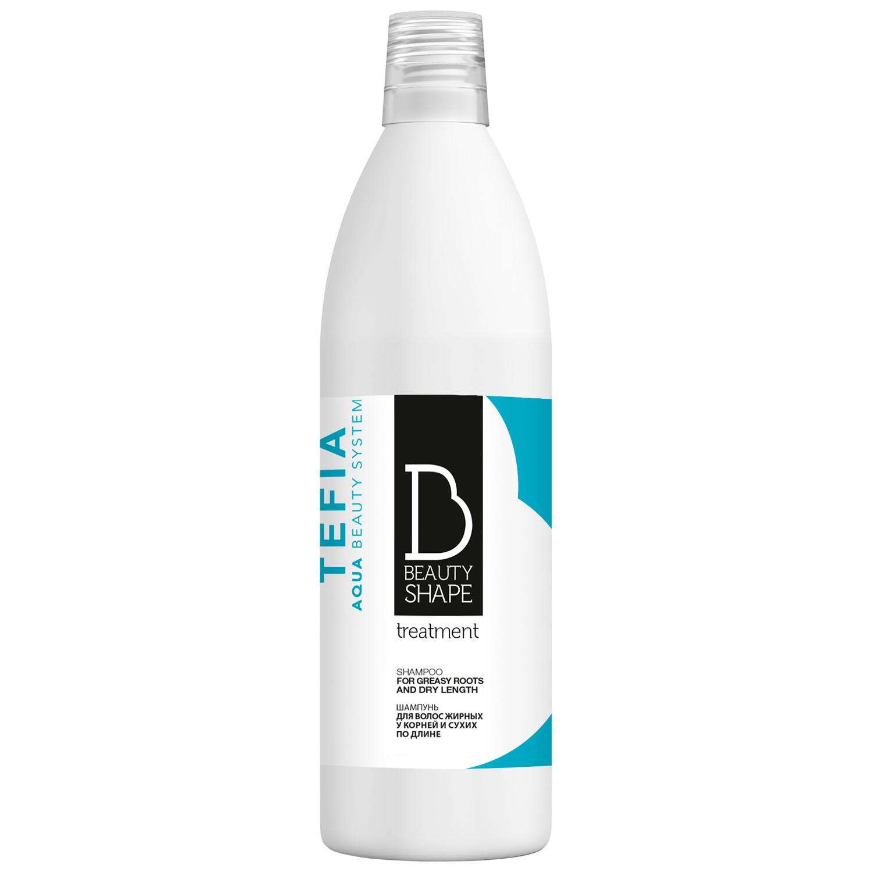 Tefia Шампунь для волос жирных у корней и сухих по длине 1000 мл (Tefia, Beauty Shape)  - Купить