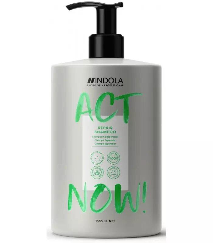 Купить Indola Шампунь Act Now для восстановления волос, 1000 мл (Indola, Repair), Германия