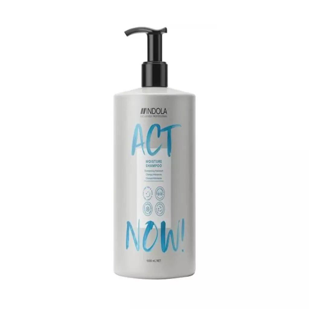 Купить Indola Увлажняющий шампунь Act Now для волос, 1000 мл (Indola, Hydrate), Германия