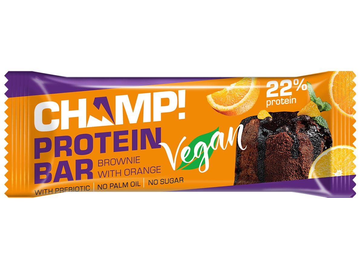 Купить Леовит Батончикпротеиновый Брауни с апельсином , 45г (Леовит, Champ), Россия